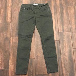 Army green skinny jean